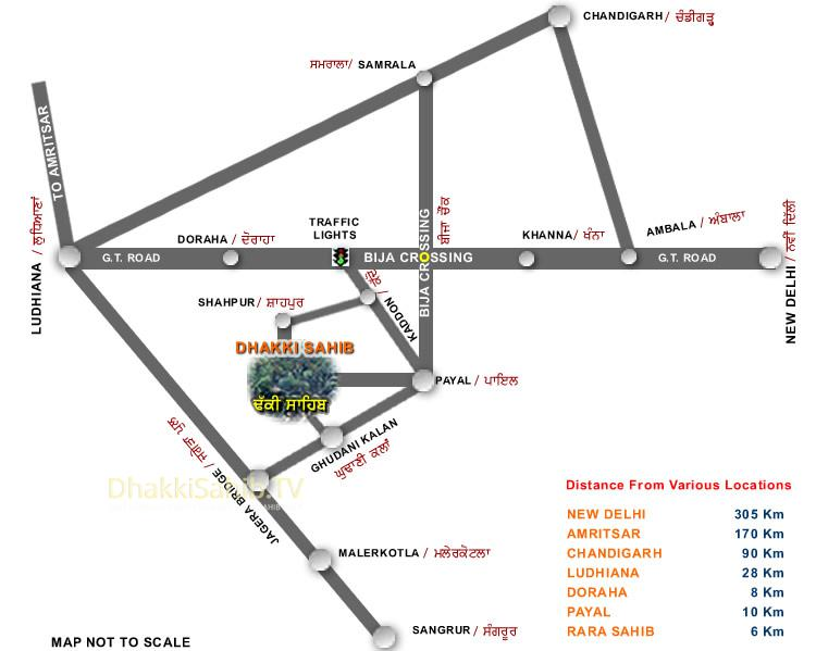 Dhakki Sahib location map